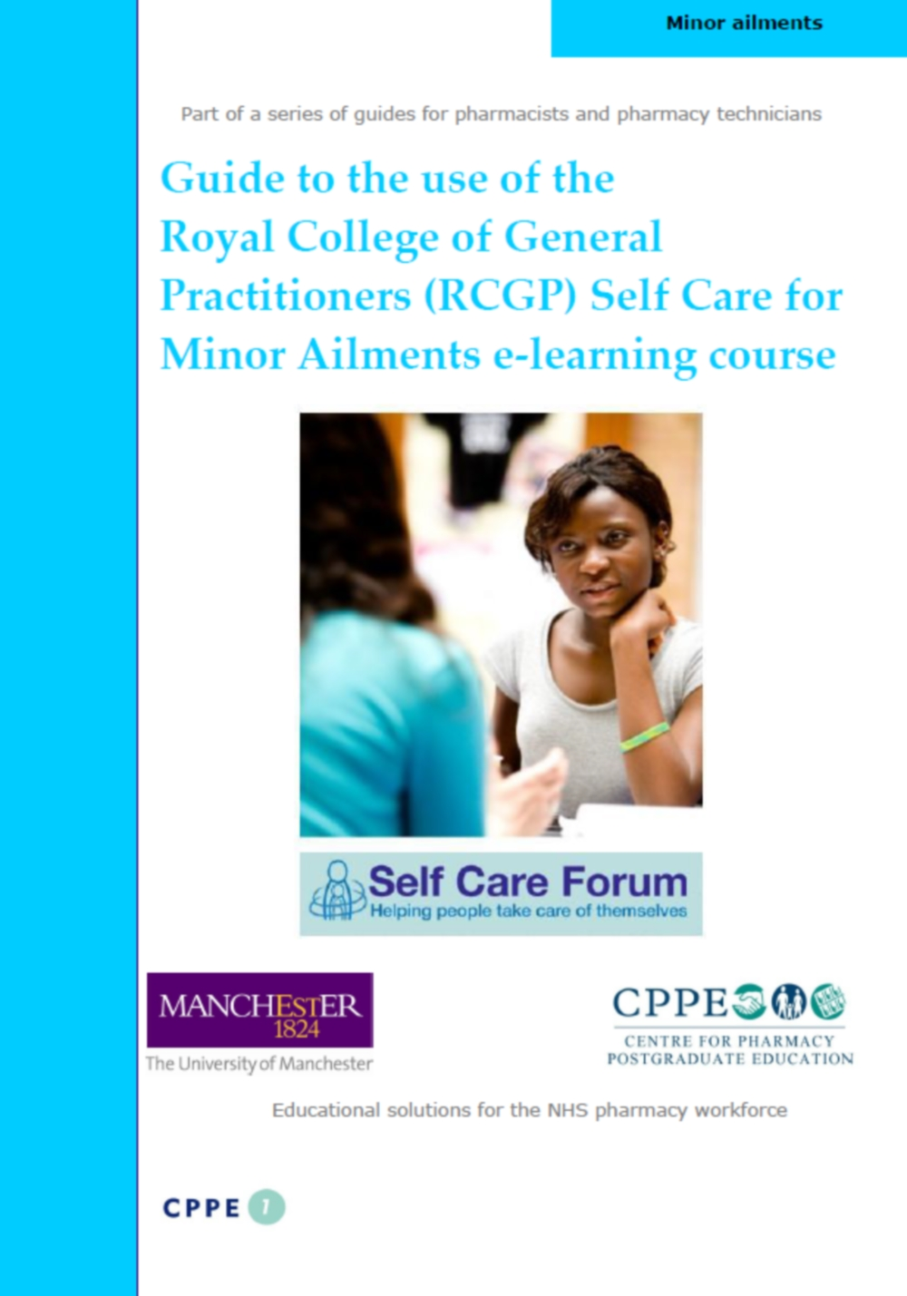 Guide published to help pharmacy make the most of the RCGP e-learning course on self care for minor ailments