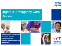 Emergency Care Review – give your input on how self care can help