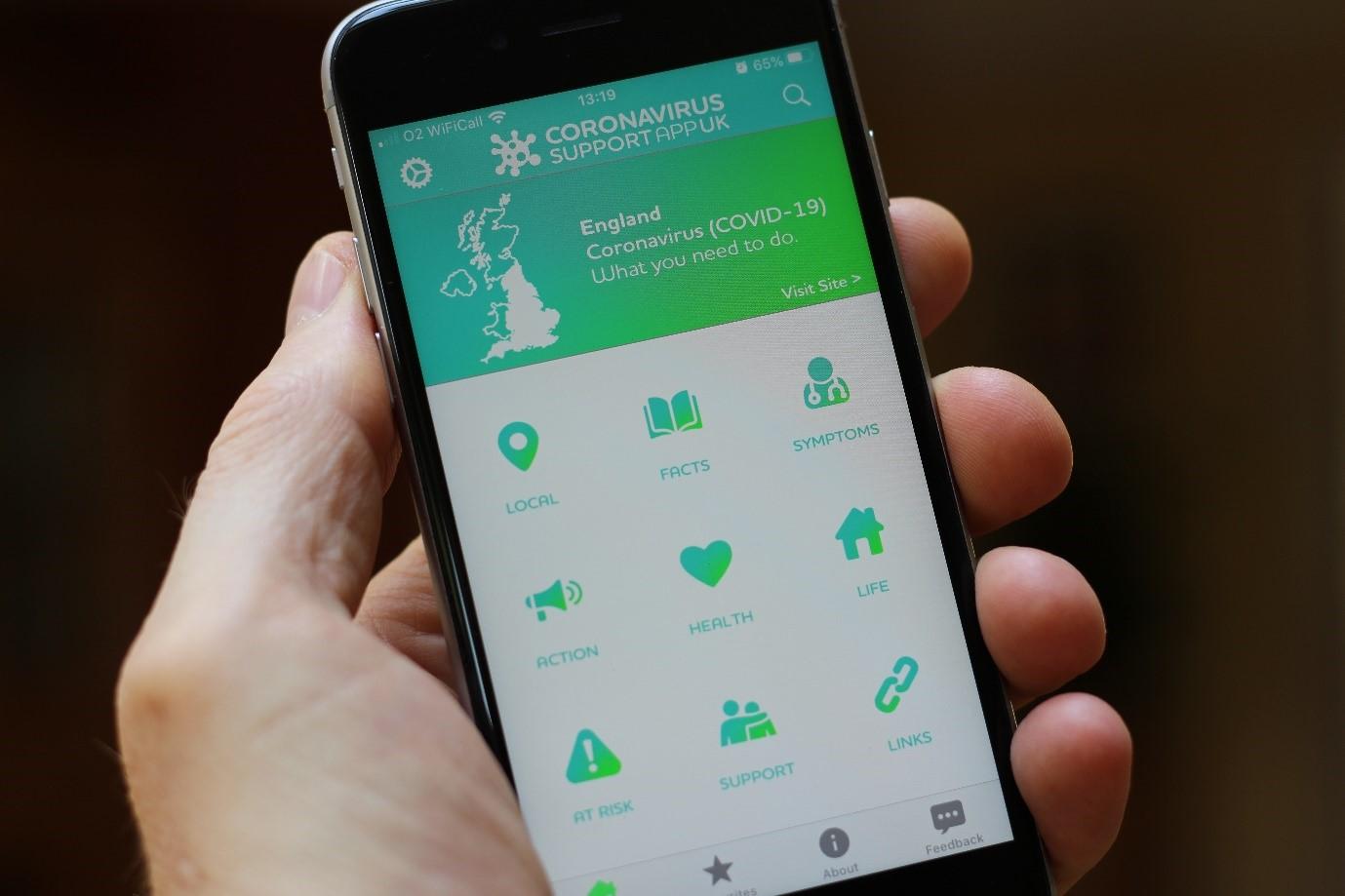 New Coronavirus Support App